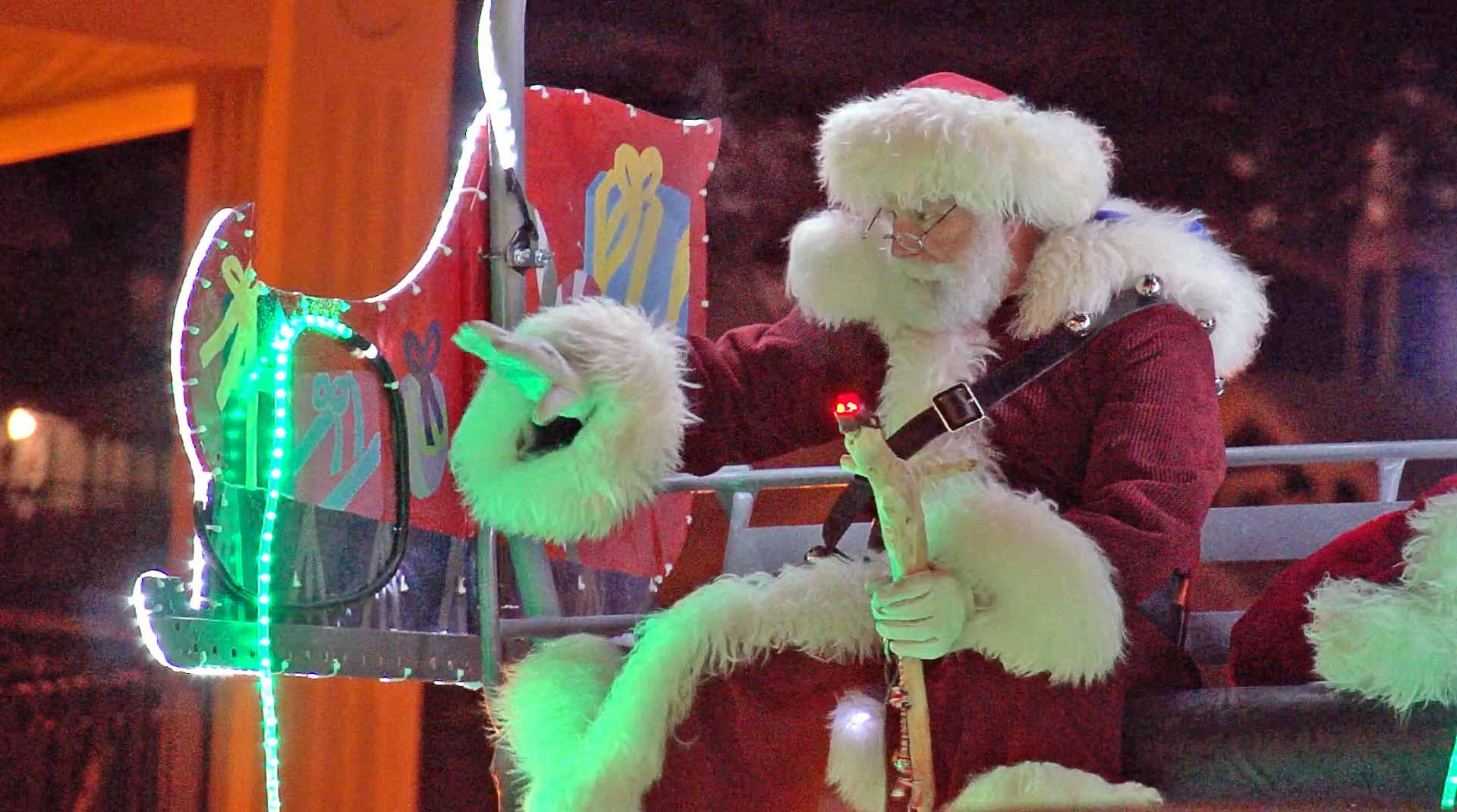 Santa Rides the Town Lift - Stay Slopeside